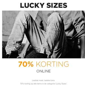 Outlet met 70% korting + 10% extra korting @ G-Star.com