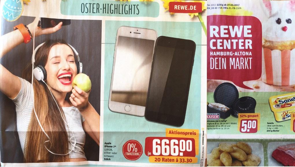 iPhone 7 128 gb voor €666 bij Rewe Duitsland