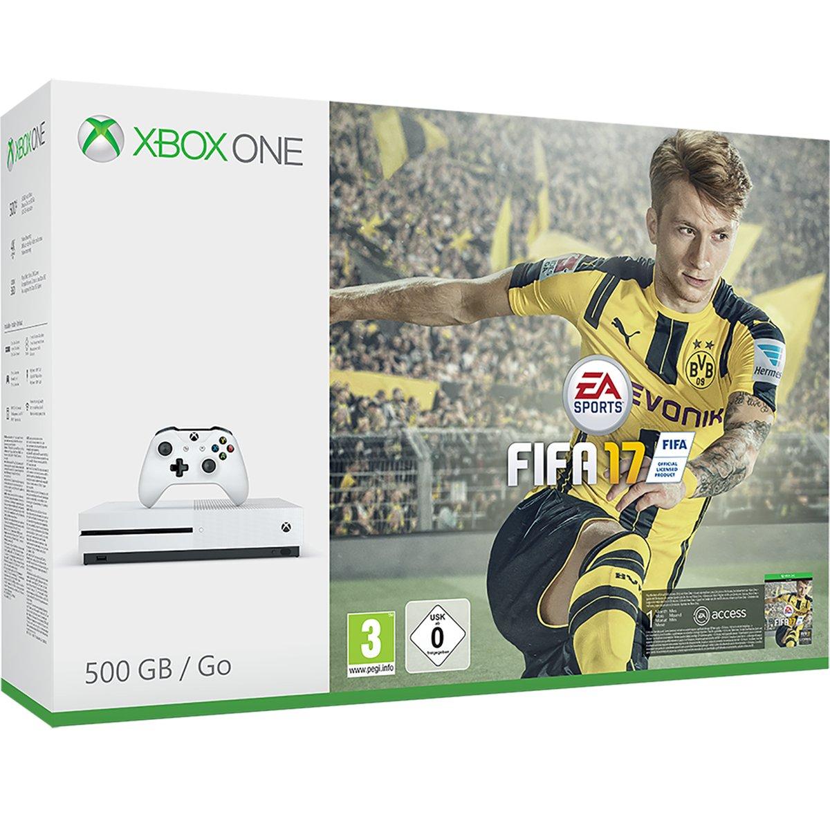 Vandaag 10% kassakorting op Xbox-artikelen (Microsoft) - Xbox One S + FIFA17 voor €209,70 @ Bol.com