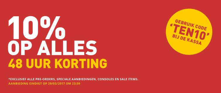 10% kassa korting op (bijna alles) @ Shop4NL