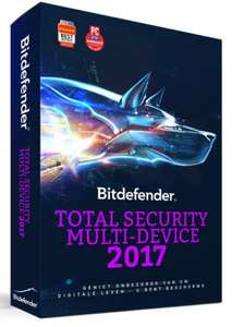 Bitdefender Total Security 2017 - 1 Jaar - 5 apparaten