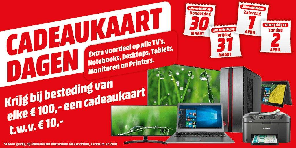 €10 giftcard bij elke €100 besteding @ Media Markt Rotterdam