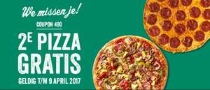 2e pizza gratis bij New York Pizza