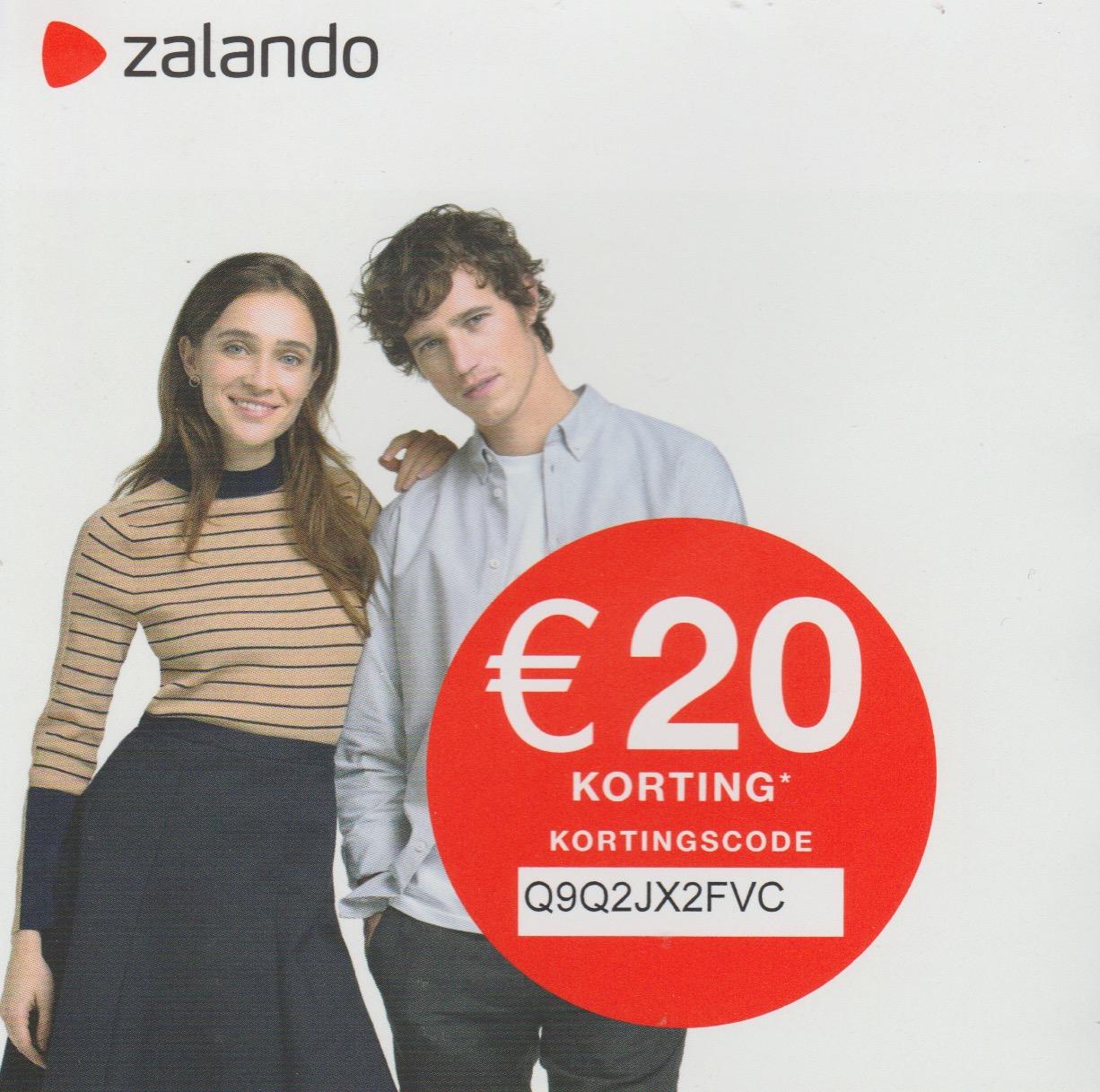 Zalando: € 20,- korting bij aanschaf van min. € 100,-