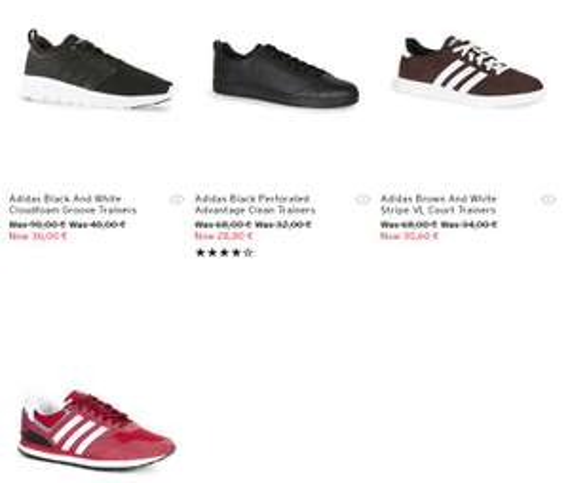 Adidas sneakers 4 modellen - €28,80 - €36 @ Topman