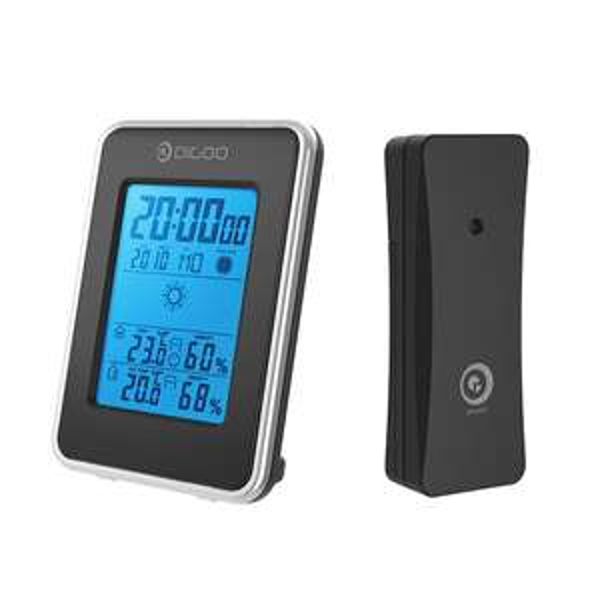 Digoo DG-TH1981 Weather Station Blue Backlit Hygrometer Thermometer Outdoor Forecast Sensor Clock voor €6,64 @ Banggood