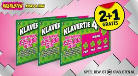 Klavertje 4 krasloten 2+1 gratis @ Kruidvat