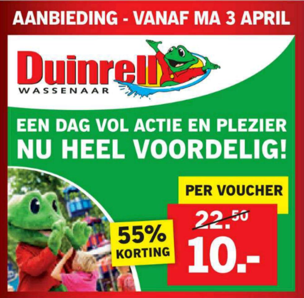 Duinrell tickets voor €10,- @ Lidl