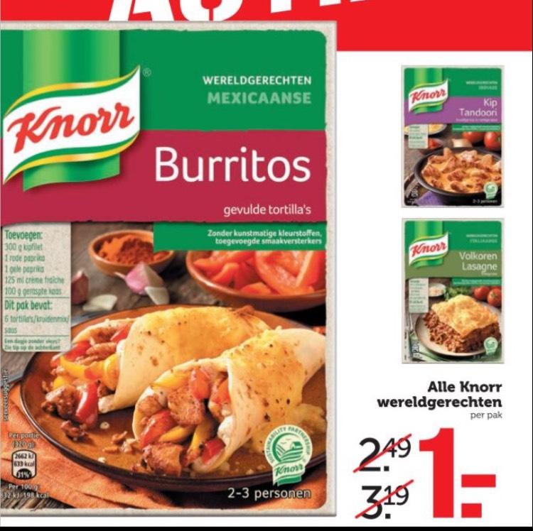Knorr Wereldgerechten voor €1 Coop