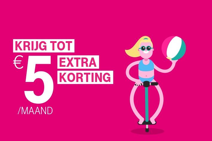 €5 Samen groep korting per maand met een Go-abonnement (Go Unlimited voor 30 per maand) @ T-mobile