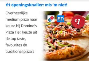 Medium pizza naar keuze @ Domino's pizza Tiel