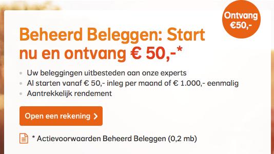 50 euro cashback bij Nationale-Nederlanden is er weer