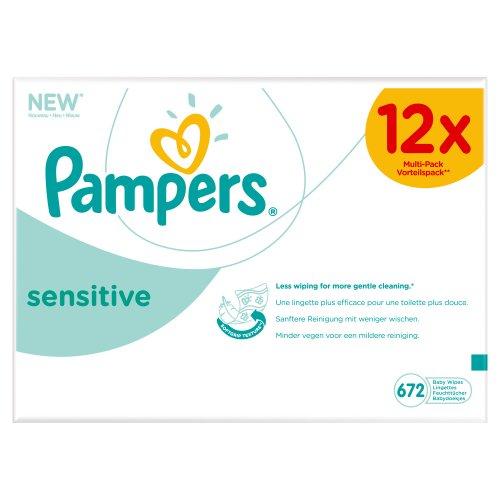 Pampers Sensitive Megapack babydoekjes (12x56) voor €13,20 @ Amazon.de