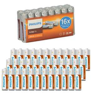 48 AA en/of AAA Philips LongLife Batterijen voor €13,95 @ Groupactie