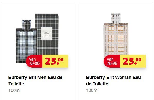 Buberry Brit Eau de Toilette 100ml - Men + Woman - €25 @ Kruidvat