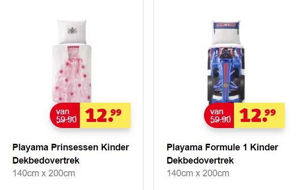 Playama kids dekbedovertrek - Race of Prinses - €12,99 @ Kruidvat