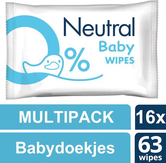 Neutral 0% Parfumvrij Babydoekjes (16 x 63 stuks) voor €33,49 @ Bol.com