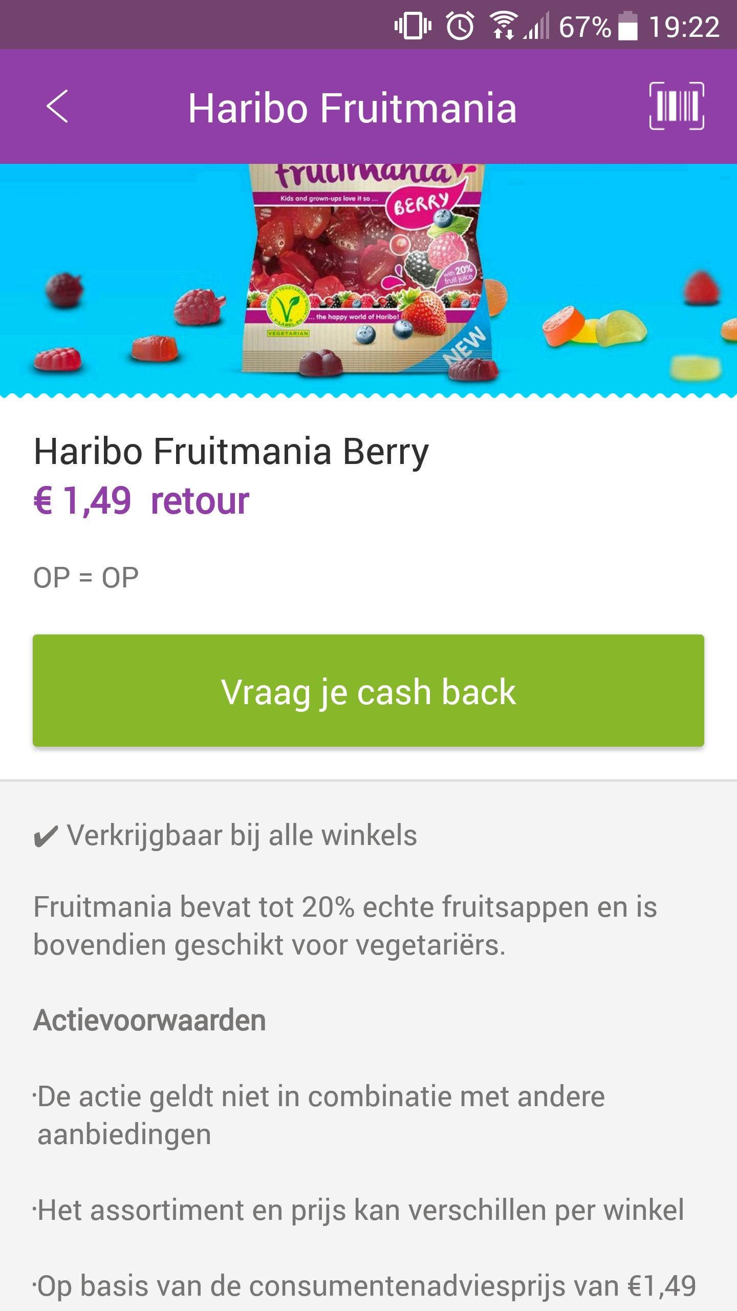 Gratis Haribo Fruitmania Berries