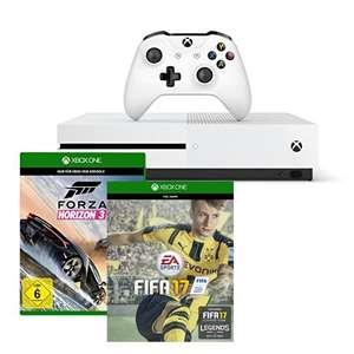 Xbox One S 500GB console - FIFA 17 Bundle + Forza Horizon 3 voor (Update! van €249,-) nu voor €236 (en andere bundels scherp geprijsd) @ Amazon.de