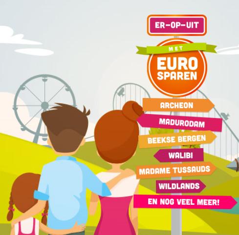Spaar voor 30% of 50% korting op 30 uitjes (dierentuinen, pretparken en musea) @ Eurosparen