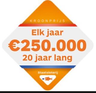 Staatsloterij Koningsdaglot € 2,50 korting met airmiles @ Albert Heijn