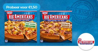 Probeer Dr. Oetker Big Americans: van €3,09* voor €1,50 @ Scoupy