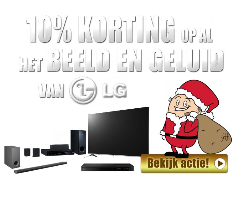 10% korting op al het beeld en geluid van LG @ Bobshop