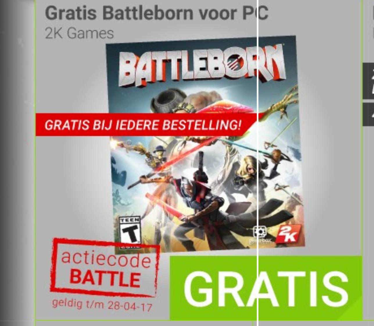 Battleborn gratis bij je bestelling @ Megekko