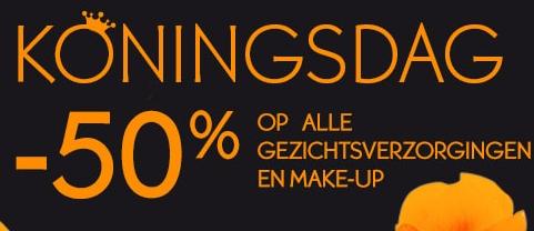 50% korting op alle gezichtsverzorging en make-up @ Yves Rocher