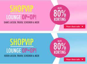 Supersale: alles 80% korting + €5 extra @ Shopvip