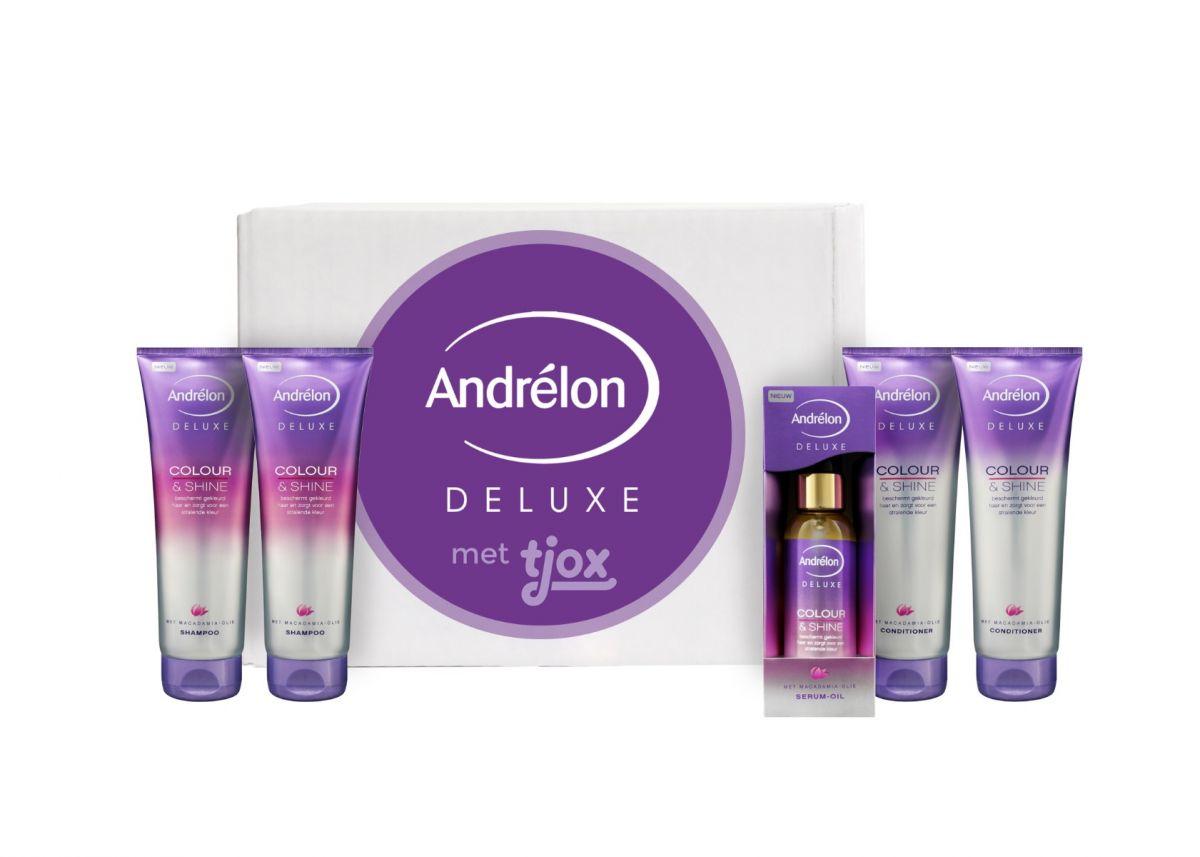 Andrélon Deluxe Colour & Shine box voor €14,98 @ Tjox