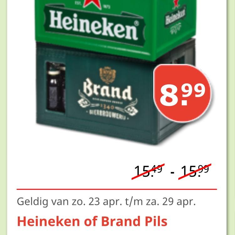 Heineken of Brand Pils in de aanbieding!!