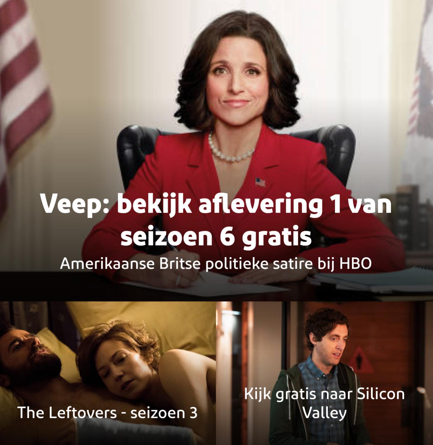 Eerste nieuwe aflevering van The Leftovers, Silicon Valley en Veep gratis @ Ziggo