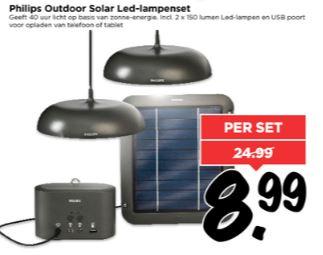 Philips Outdoor Solar Led-lampenset €8,99 @ Vomar