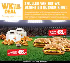 WK Take-Away Deals - veel groepsvoordeel @ Burger King