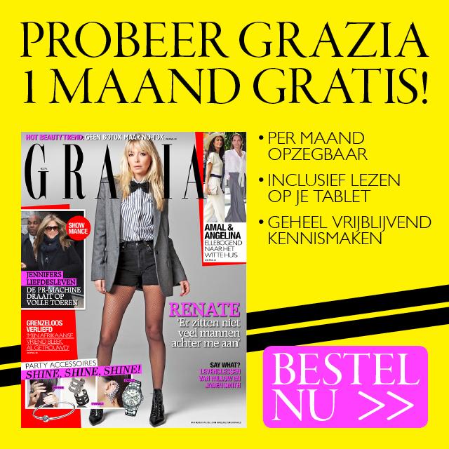 Gratis 1 maand het modeblad Grazia t.w.v €10,25 @ Grazia Abonnement