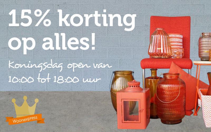 15% Korting op de gehele shop @ Woonexpress.nl