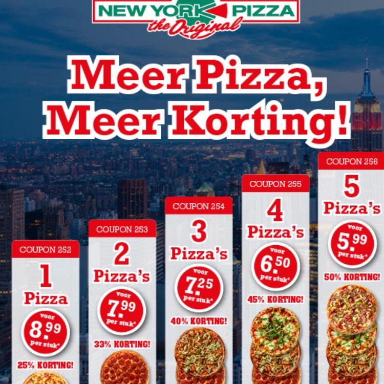 Stapelkorting pizza's New York Pizza