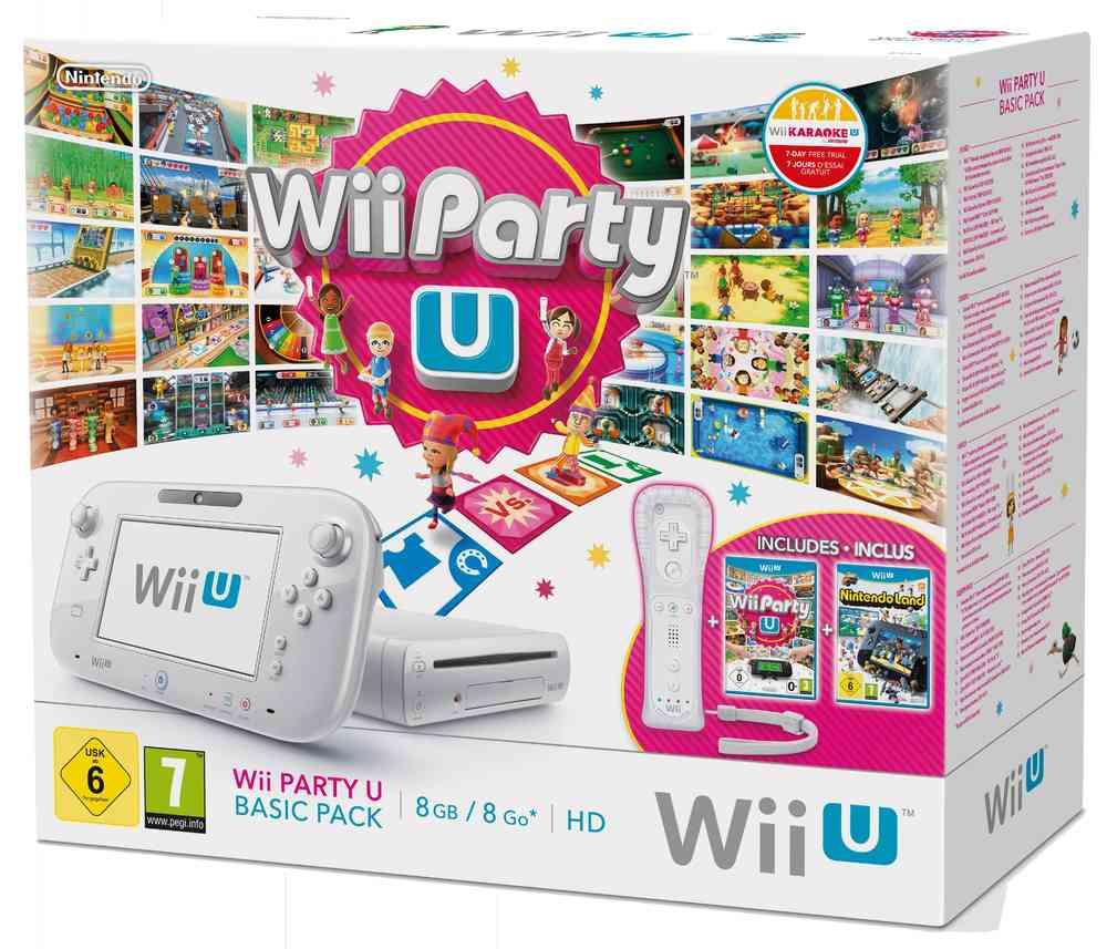 Wii U 8 GB + Wii Party U + WiiMote + Nintendoland voor €185,87 @ ConsolePlaza