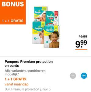 AH bonus 1+1 gratis Pampers premium protection & pants