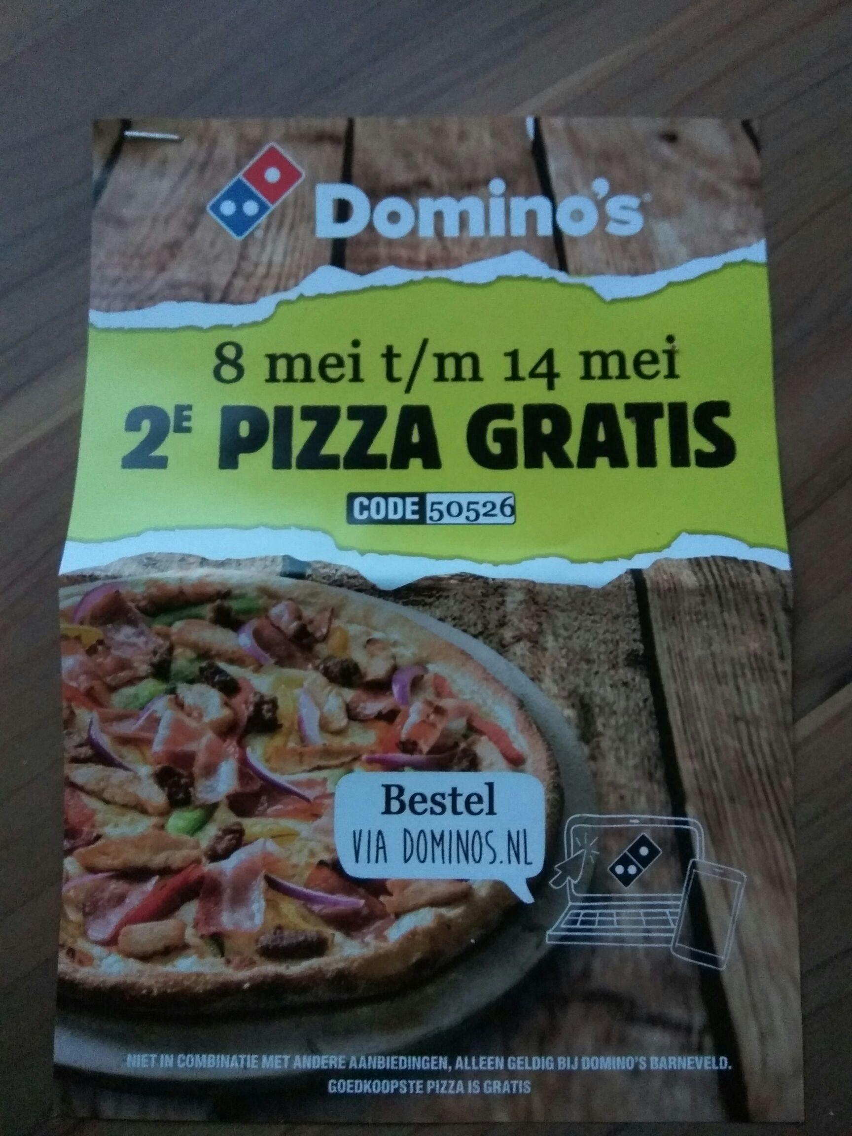 2e pizza gratis @ Domino's Barneveld