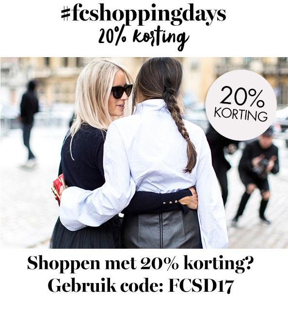 20% korting met Fashionchick Shopping Days bij diverse webshops.