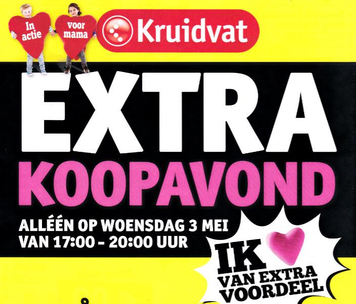 [REMINDER] Extra Koopavond ( + kortingsbonnen) op woensdag 3 mei 2017 @ Kruidvat