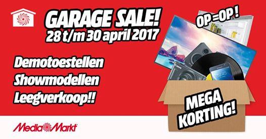 Garage Sale 28 april - 30 april @ Mediamarkt Leeuwarden