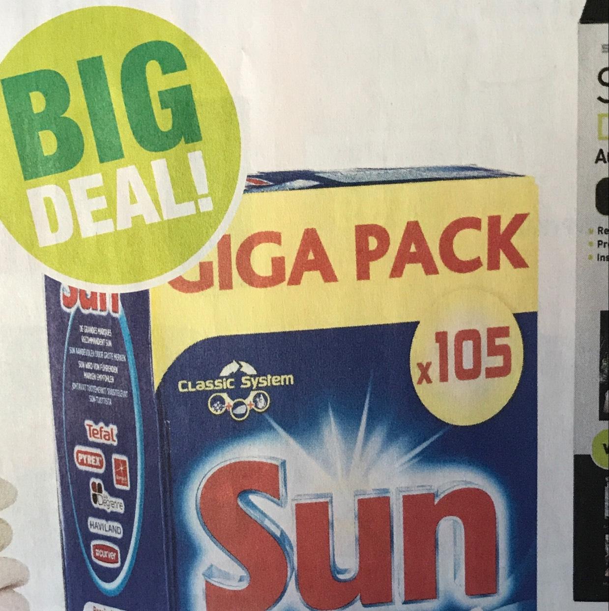 105 vaatwastabletten Sun @Bigbazar