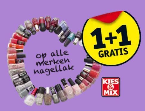 Alle merken nagellak 1+1 GRATIS @ Kruidvat