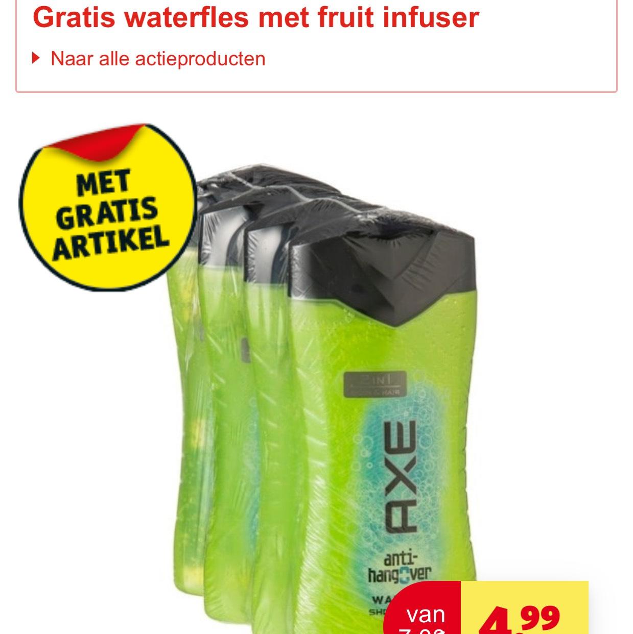 Axe douche multipack 4x - Kruidvat - 20% extra korting