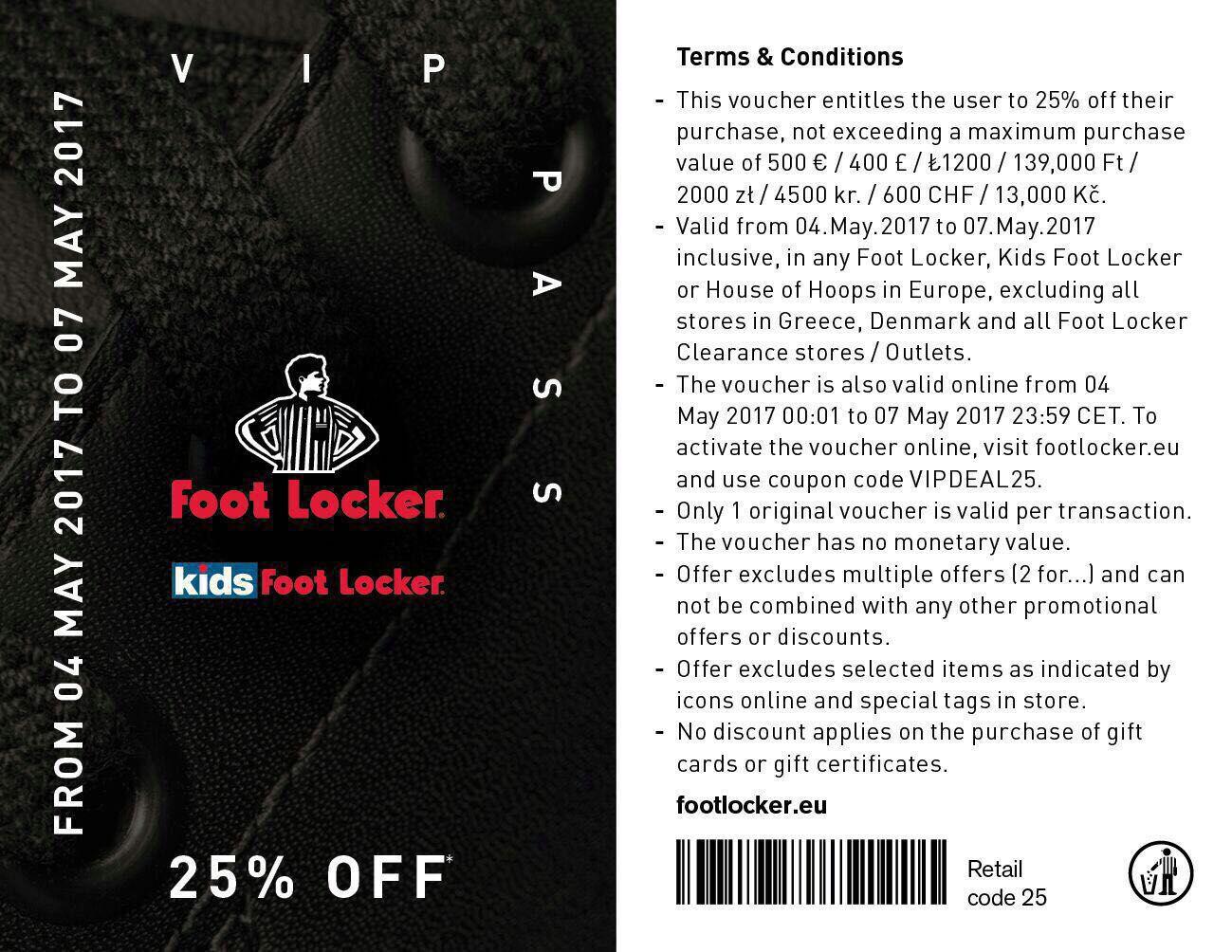 [REMINDER] 25% korting met code @ Footlocker