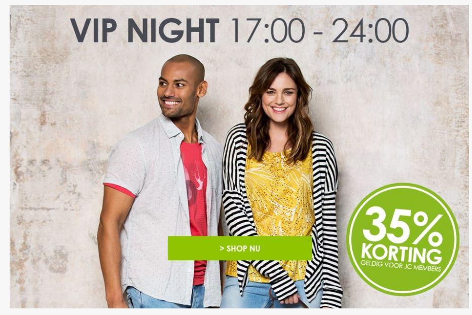 35% korting tijdens onze VIP Night voor JC members