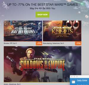 May the 4th Star Wars sale @ GOG (tot -77% korting)